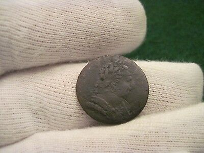 1736 Farthing George The 3rd Obverse Mule Non Regal Colonial Coin