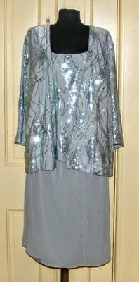 Beautiful 3 pc sparkly pale green MOB skirt, tank & jacket size 22W-24W no tag