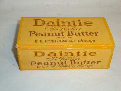 Nice Old Daintie Brand Peanut Butter Advertising General Store Box Not Tin