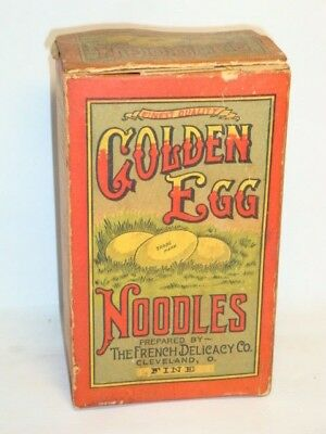 Nice Old Golden Egg Noodles Advertising General Store Box Not Tin Can
