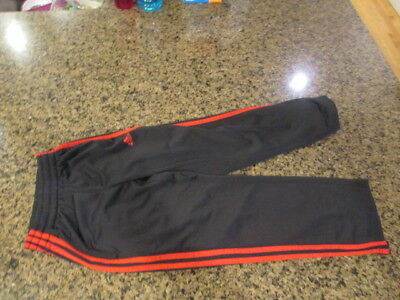 Adidas Track sweat Pants youth boy girl workout running s 8 Black red athletic