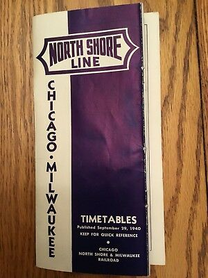 Chicago North Shore & Milwaukee Railroad Time Table 1940