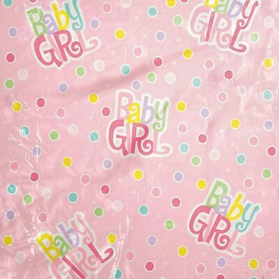 Jumbo Plastic Gift Bag Baby Shower Girl Pink Dot W Card 44 X 36