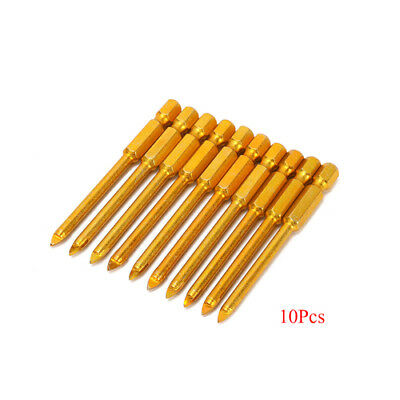 10Pcs 5mm Triangular Ceramic Alloy Drill Glass Marble Tile Cutter Power Tools