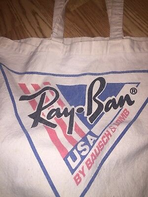 Ray Ban Red Wing USA By Bausch & Lomb Canvas Vintage Carry Bag Extremely Rare.