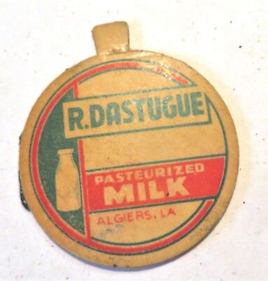 "Vintage Milk Cream Bottle Cap 1-5/8"" D. Dastugue Dairy Algiers Louisiana"