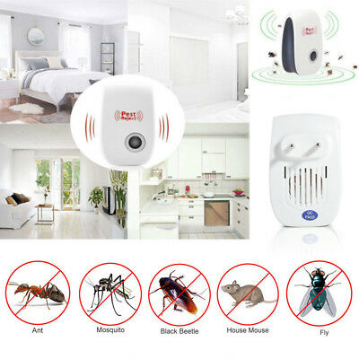 Ultrasonic Pest Reject Electronic Mice Repeller Anti Mosquito Insect Killer New