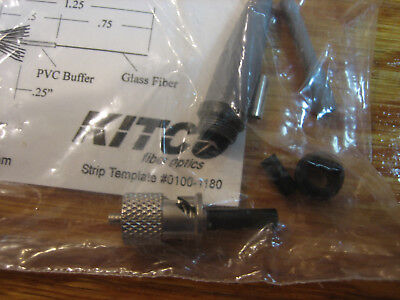 KITCO,0200-3000,Navy approved COTS ST fiber optic connector w/template 0100-1180