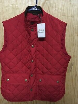 Barbour Lowerdale Vest Color Red Quilted Polyamide Men's Size Xl