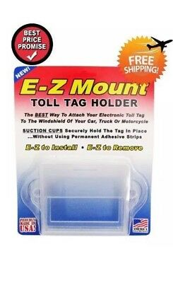 One EZ Pass Toll Tag Holder,Fits New & Old Transponder,i-Pass,i-Zoom, Clear
