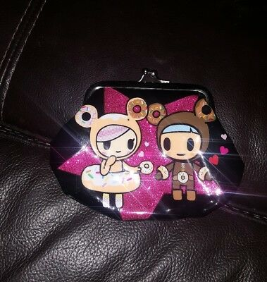 Unused Tokidoki Coin Purse Donutella Black Vinyl