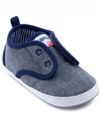 549bfff2e141 SURPRIZE BY STRIDE Rite Baby Boy Ken Soft Soled Crib Shoes Size 6-12 ...