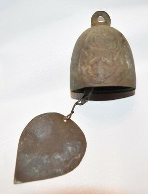 "Antique Buddha Thai Temple Bell Decorative 2 in Diameter & 2.5"" Tall"