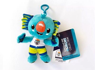 *NEW* Official Commonwealth Games Gold Coast 2018 BOROBI 15cm Plush Toy Keyring