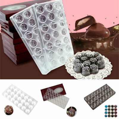 Transparent Chocolate Mold Candy Jelly Cookie Ice Cake Mould Tray Baking Tools