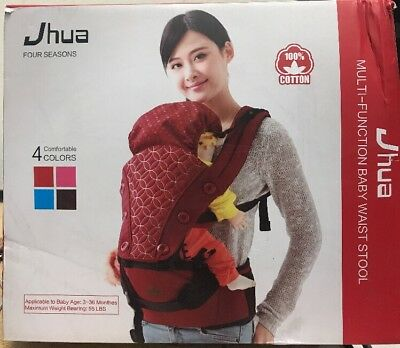 Jhua 4 Seasons 6 in 1 Baby Carrier Hip Seat with Hood Backpack Multifunctional