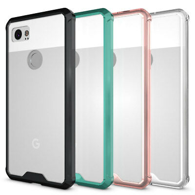 For Google Pixel 2 / 2 XL Thin Hybrid Bumper Shockproof Clear Rugged Case Cover