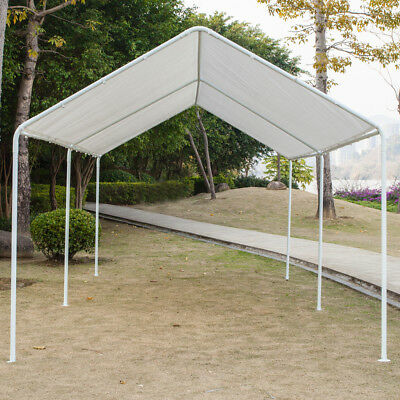 Carport Canopy Tent Frame Shelter Car Boat Truck Garage Storage Shade Metal  Big