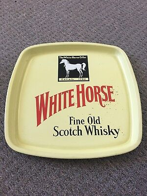 Vintage White Horse Whisky Bar Drinks Tray