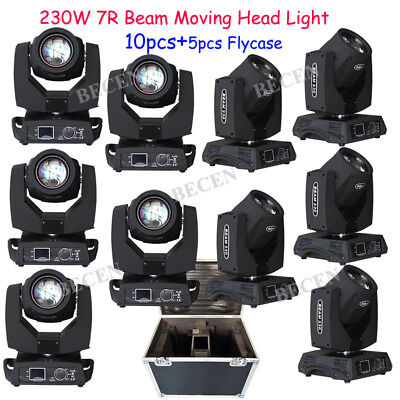 Touch Screen 7R 230W Sharpy Beam Moving Head light 8prisms 10pcs+5pcs fly case