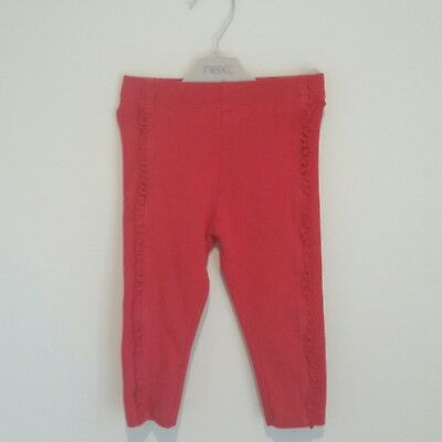 Next Baby Girls Red Leggings with Frill Detail Age 12-18 Months