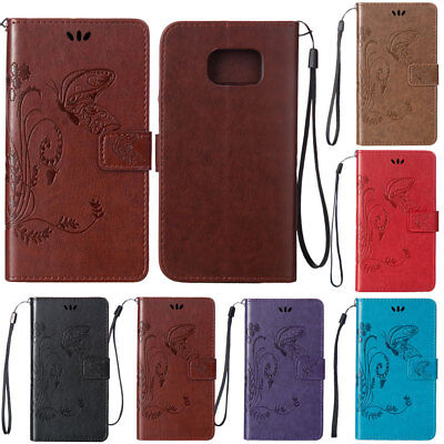 For Samsung Galaxy S7 S6 Edge Phone Case Flip Card Wallet Leather Strap Cover