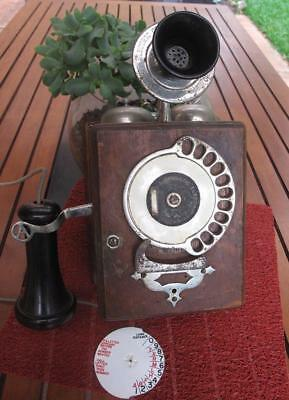 Early Strowger 11 Digital Dial Automatic Electric Wall Telephone c1900s