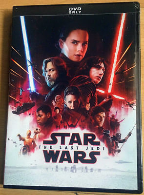 Star Wars: Episode VIII (8) The Last Jedi (DVD, 2018) New