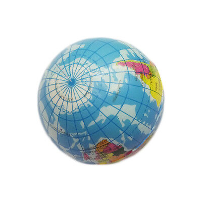 Soft World Map Globe Squishy Squeezable Decompression Toy Kids Learn Study Props