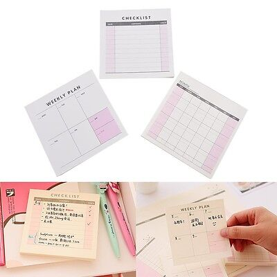 1X Schedule Organizer Check List Memo Planner Sticker Sticky Notes Memo Label 3C
