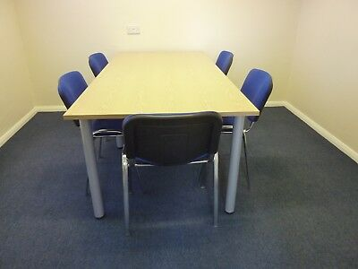 Office Table and 6 Chairs in Immaculate Condition 200 x 100cm