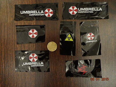Umbrella Corporation Aufkleber  7er Set