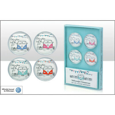 Vw Glass Magnets - 'getting There Is Half The Fun' Item Code: 68552