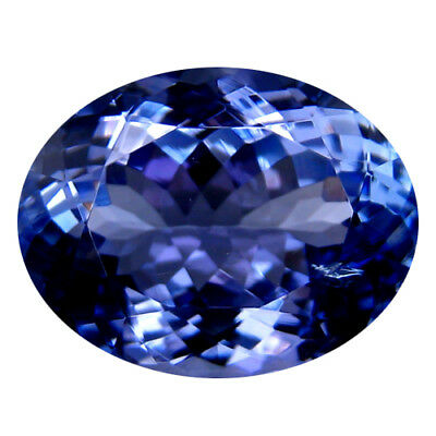 6.12Ct MIND BOGGLING ! TOP RICH FIRE AA+ BLUISH VIOLET NATURAL TANZANITE