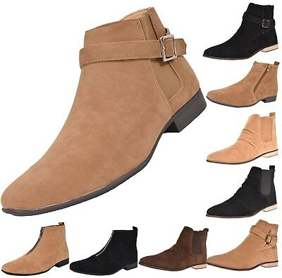 Loyalty & Faith Mens Faux Suede Louis Styles Ankle Boots