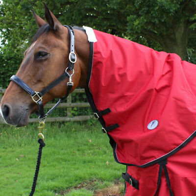 Jhl Lightweight Turnout Unisex Horse Rug Neck Cover - Red And Navy All Sizes