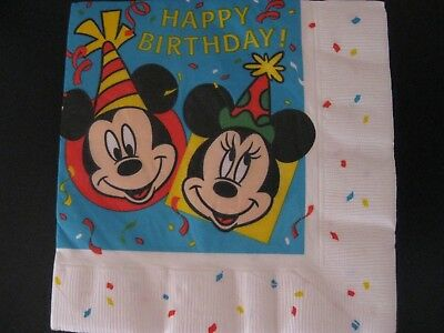 2 Servietten / napkins Mickey & Minnie Mouse