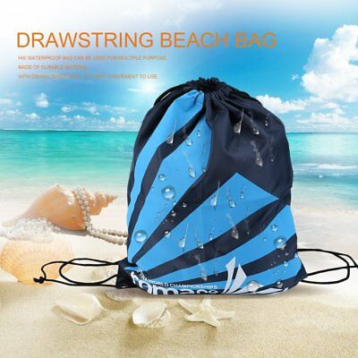 Swimming Drawstring Beach Bag Sport Gym Waterproof Backpack Swim Dance IB