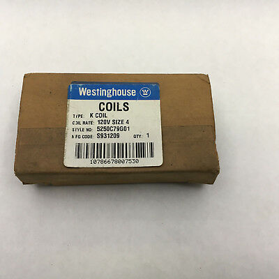 Westinghouse 5250C79G01 New In Box 120V Coil Size 4 Starters type K Coil B42