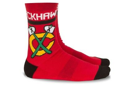 "Reebok FACE OFF Socks ""Chicago Blackhawks"", Gr. L, rot (uvP € 16,95)"