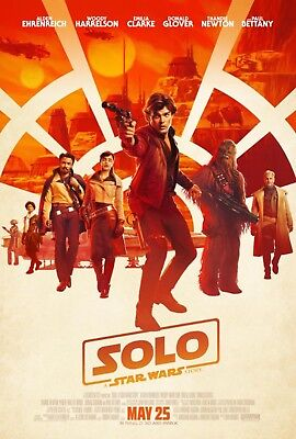 SOLO A STAR WARS STORY Original DS 27x40 Movie Poster FINAL VERSION HAN LANDO