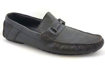 86f21f1013a Calvin Klein Men s Brown Leather DAX Driving Moc Slip On Loafers Shoes -  Size 9