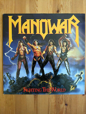 Manowar Fighting The World LP Vinyl (1987)