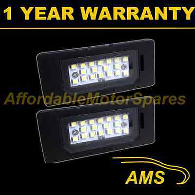 2X For Bmw X1 E84 X5 X6 E70 E71 E84 18 White Led Number Plate Light Lamps