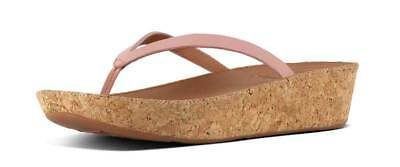 c2f9eb292448c FITFLOP RUMBA WOMEN Leather Matt Dusky Pink Toe Thong Sandals Size ...