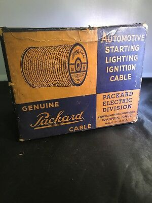 Packard Cable Box rare display electric ignition cable empty