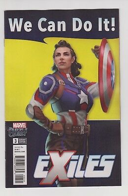 Exiles # 3  Nm  1:10  Game Variant 1St Peggy Carter As Captain America 2018  Hot