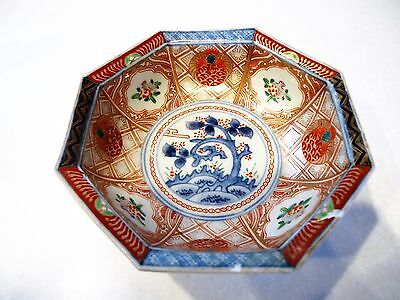 ANTIQUE ORIENTAL IMARI BOWL with SINGLE BLUE RING
