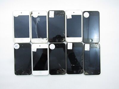 Lot of 10 Cracked Apple iPod Touch 4th Gen 8GB A1367 5CR 1267