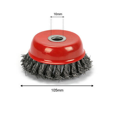 4'' 105mm Knot Wire Cup Brush Twist - For Grinder Wheel Max 8500RPM High Quality